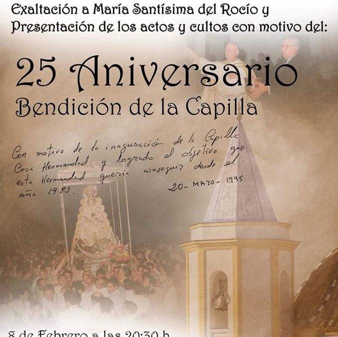 25 Aniversario Bendición de la Capilla