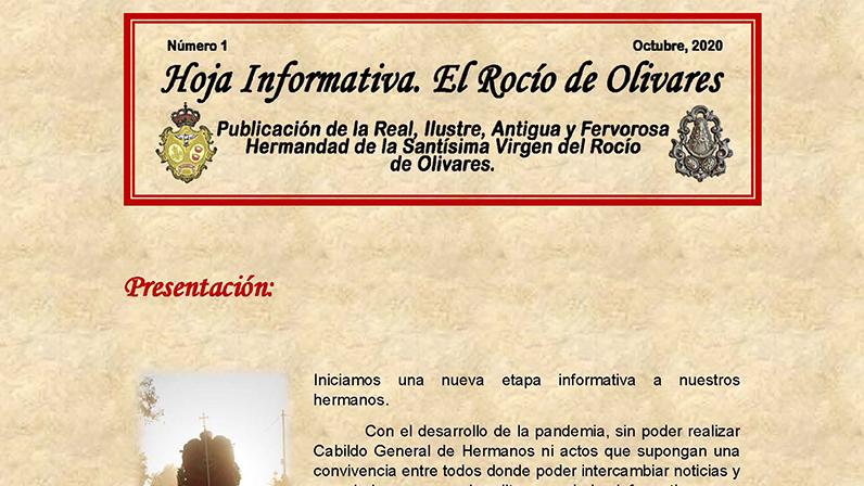 Hoja Informativa. El Rocío de Olivares